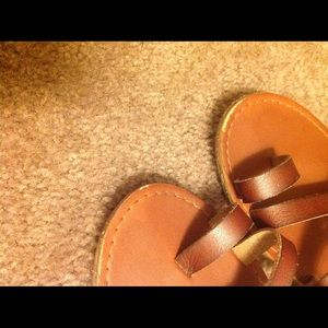 Mossimo Supply Co. Shoes - Black and Tan Sandal Combo
